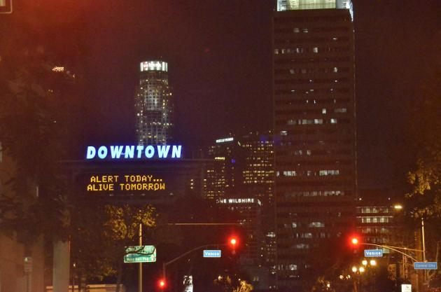 Downtown LA by night