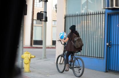 Bicycling Balloon Girl