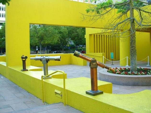 Pershing Square yellow wall
