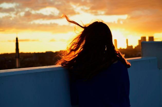 Kat at sunset