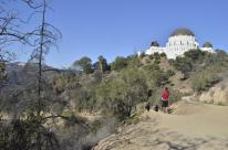 Observatory viewed from hiking trail below