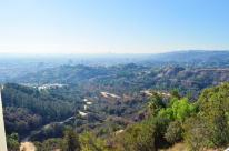 Hiking trails below, Century City buildings in the distance