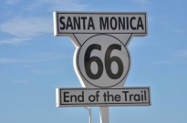 End of the famous Route 66