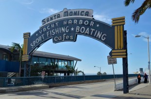 Entrance to the Santa Monica Pier