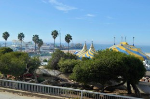 Pier and circus tents