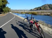 Biking Santa Ana River Trail