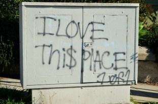 Heartfelt graffiti!