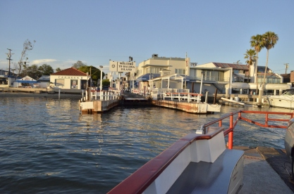 Leaving the ferry dock