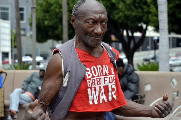 Homeless man in Los Angeles