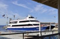 My catamaran to the mainland