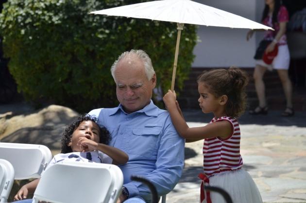 Shading Grandpa
