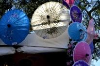 Beautiful paper umbrellas