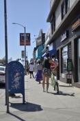 City sidewalks, busy sidewalks