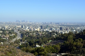 View looking down on Hollywood Bowl