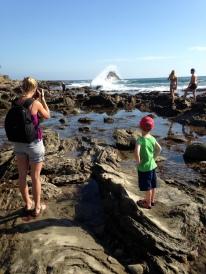 At the tide pools in Corona del Mar