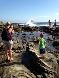 At the tide pools in Corona del Mar