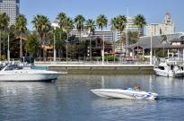 Speedboat in Long Beach