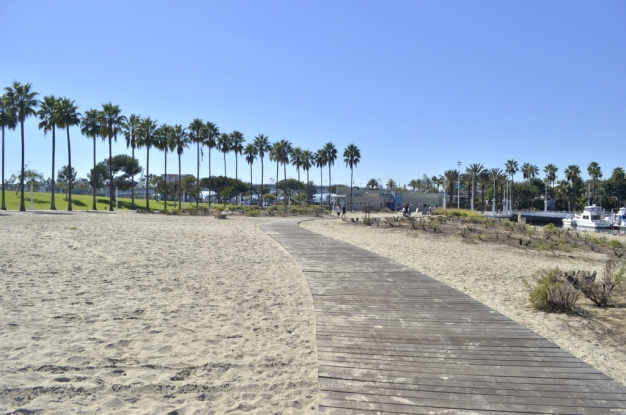 The boardwalk in Long Beach