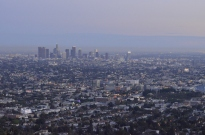 Downtown L.A. at dusk