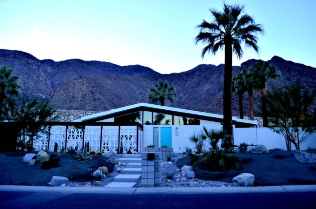 Palm Springs Home at Dusk