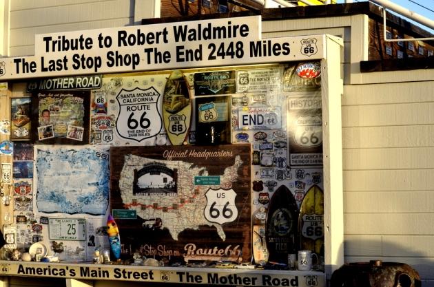 Route 66 Exhibit at Santa Monica Pier