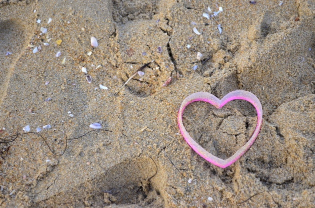 Discarded Heart in the Sand