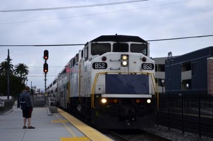 My train arriving in Orange