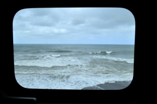 Overcast and moody view of the Pacific.