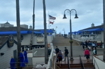 Along the boardwalk at San Clemente.
