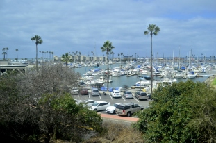 First view of Oceanside's harbor