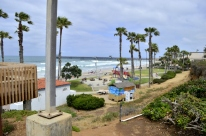 The Oceanside wharf in the background.