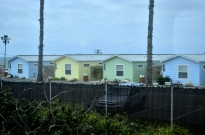 Military housing on the Navy Base.