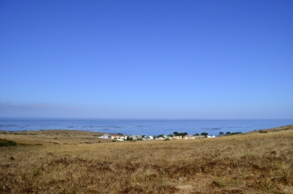 View from the hillside trail at Fiscalini Ranch Preserve