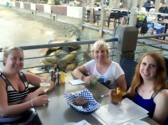 Angelika, me, and Kat at Bluewater Grill for dinner (yum!)