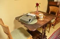 Ready to start typing on my vintage manual typewriter