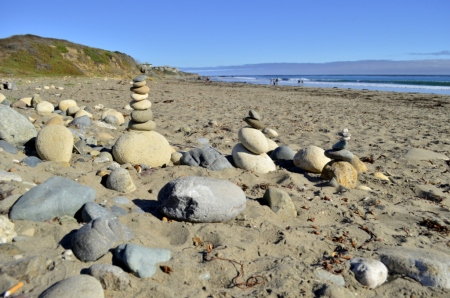 Stacked rocks I discovered seaside at Cambria