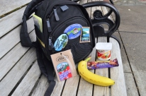 Breakfast time, and a new patch for my camera bag