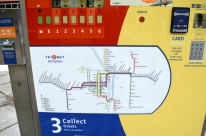 Map of the Max, public transportation