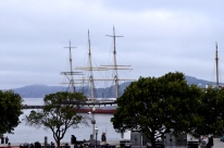 Tall ship in the harbor