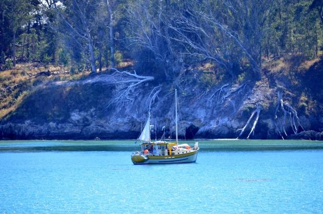 Sailboat at San Simeon