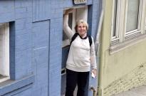 SueBee in a very short door frame!