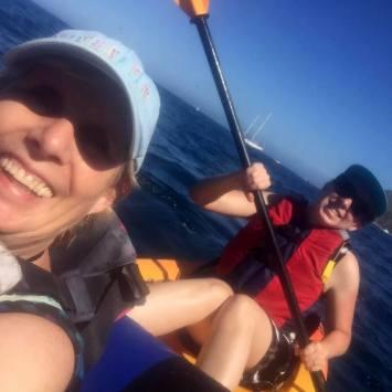 Selfie of SueBee and Kat having fun!