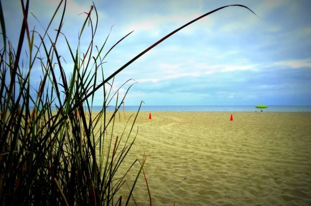 orange-cones-on-the-beach