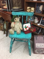 Collectible Bear, gorgeous chair