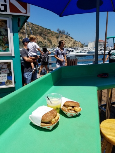 Fish sandwich and a margarita for lunch