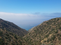 There it is, the ocean on the other side of Catalina!