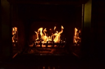 Nothing like a fire in the fireplace when it's chilly outside