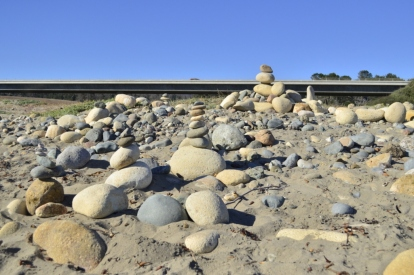 Rocks on the beach at Cambria