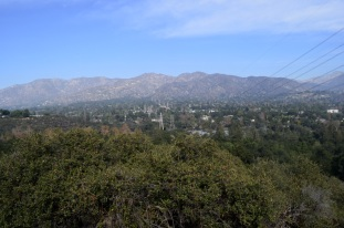 View from the fence line towards La Canada