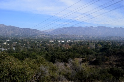 View toward JPL (Jet Propulsion Laboratory) in La Canada Flintridge